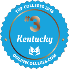 #3 Top College in Kentucky at Onlinecolleges.com