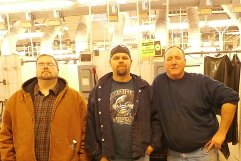 Welding instructors Jeff Cassady, Ron Craig, and Curtis Bowman are pictured in the welding shop at the Technology Drive Campus.