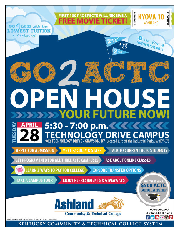 Go2ACTC Open House at Technology Drive Campus on April 28
