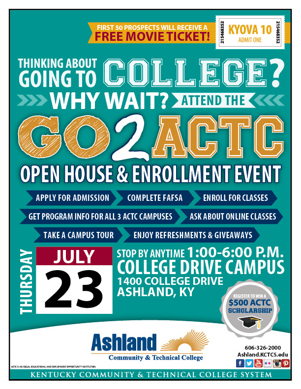 Why Wait? Go2ACTC Open House Flyer with information